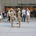 Facing. NYC, entrance of Moma during Marina Abramovic's exhibition 2010